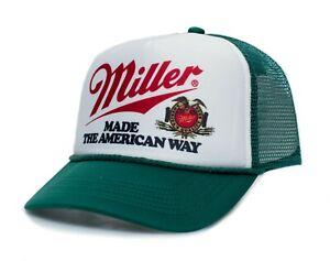 Miller Beer Hat High Life Vintage Logo Truckers Cap Adult One Size Multi