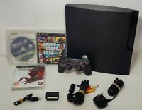 Playstation 3 Slim PS3 Console CECH-2503B 320GB Pad & 3 Games *Read Desc* (F-11)