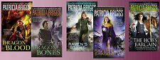 PATRICIA BRIGGS 5 Book Fantasy Collection Raven Duology - Hurog Duology & Hob!