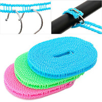 3/5M Washing Clothesline Outdoor Travel Camping Clothes Line Rope Non-Slip Nylon