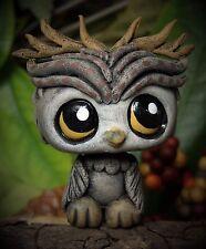 Littlest Pet Shop chibi Owl Faun Forest Spirit OOAK custom figure LPS