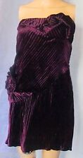 GIANNI VERSACE COUTURE Pleated Purple Velvet Boned Cocktail/Prom Dress I 40/US 4