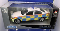 Welly 1998 BMW 328i Police Car. Code 3 Boxed Superb Condition 1:24 Scale