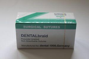 DENTALbraid 4-0 (Nadel 24 mm 1/2 Kreis schneidend) Nahtmaterial Polyester