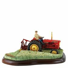 New Border Fine Arts David Brown 990 Implematic Tractor Model Hay Cutting
