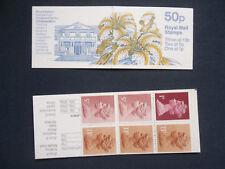Fb45a Botanical Gardens 50P Machin Stamp Booklet Mount Stewart Lillum Auratum