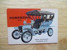 1953 VINTAGE TOPPS WORLD ON WHEELS CARD # 77 1904 NORTHERN TOURING CAR