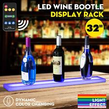 "32"" Music-Activated Led Lighted Bar Liquor Display Shelf Wine Bottle Stand Rack"