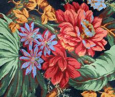 CLEARANCE Drapery Upholstery Fabric Teflon Coated Cotton Floral Lattice - Black