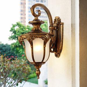 Garden Glass Wall Sconce Outdoor Wall Lamp Indoor Home Wall Light Proch Lighting