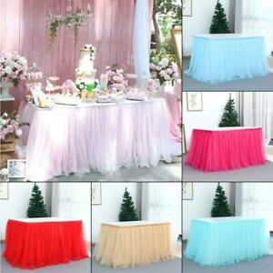 Tulle Table Skirt Tutu Table Tableware Wedding Party Decoration Birthday Party