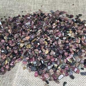 Natural plum blossom Tourmaline gravel polishing  stone fish tank decoration 1kg