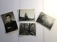Real Photos Russian Soldier Soviet Army 4 pcs Soldiers USSR Military 70s