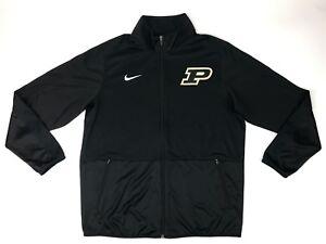 New Nike Men's L Purdue Boilermakers Basketball Rivalry Warmup Jacket Black $65