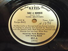 York Brothers: Gravy Train / Take A Number 78 - Hillbilly Rockabilly