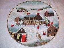 The Village Inn Christmas Display Collector Plate Betsey Bates Folk Art Usa 1983