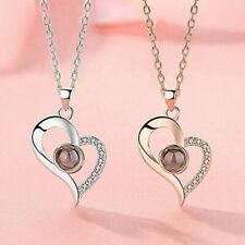 NEW- I LOVE YOU In 100 Languages Silver Gold Pendant Necklace Memory LOVE@