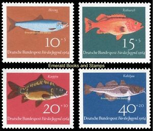 EBS Germany 1964 Youth - Jugend - Fish - Fische Michel 412-415 MNH**