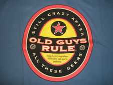 """Old Guys Rule """" Beer Label """" Still Crazy After All These Beers T-Shirt Size M"""