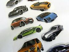 3D Car Stickers, Fun Kids Labels for Craft, Decoration & Party Bags, HM03