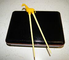 BENTO BOX SET animal Giraffe TRAINING beginner Chopsticks Japanese obento boxes