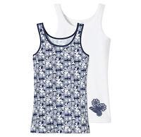 SCHIESSER Mädchen Hemden 0/0 2er Pack Gr.152-176 95/5 CO/EL Unterhemd NEU