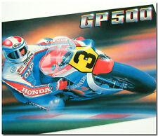GP500 POSTCARD FREDDIE SPENCER ROAD RACING HIS FACTORY HONDA WEARING ARAI HELMET
