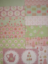 "11 Dovecraft Tea Party 6"" x 6"" Papers & 2 Toppers For Cardmaking & Scrapbooking"