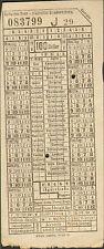 WIEN TICKET STRASSENBAHNEN TRAMWAYS VERS 1920 ??