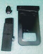 Universal Waterproof Pouch for Smartphones Black Vinyl with Wrist Strap/Lanyard