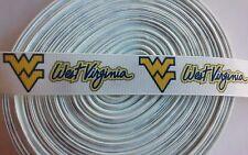 """UU. 7//8/"""" West Virginia Mountaineers Cinta del Grosgrain por la yarda vendedor de EE"""