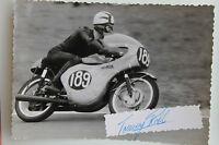 27086 Moto Rennen Foto Con Autografo Thomas Robb Irlanda 1962 Honda Autografata