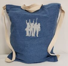 Hello Embroidered Status Quo Inspired Denim Gymsac 12 Litres NEW