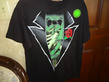 BOYS HALLOWEEN SKELETON TUX WITH RED ROSE SHIRT SIZE MEDIUMNEW