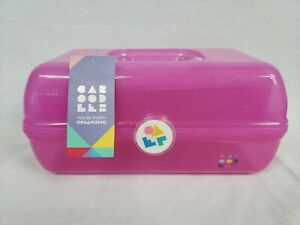 Caboodles On-The-Go Girl Hot Pink Sparkle Jellies Rare, Retro, Case, Makeup