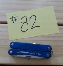 LEATHERMAN SQUIRT ES4 BLUE FOLDING MULTI TOOL KNIFE USED -QK#82