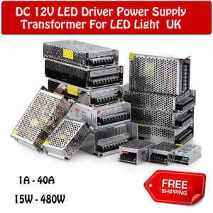 DC 12V LED Driver Power Supply Transformer Switching driver for LED Strip CCTV