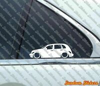 2x Lowered car outline stickers - for Chrysler PT Cruiser | retro