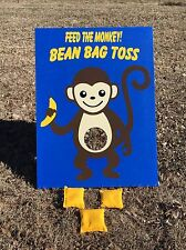 monkey themed bean bag toss carnival game