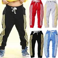Kids Boys Girls Sports Jogging Pants Joggers Casual Bottoms Sweatpants Sportwear