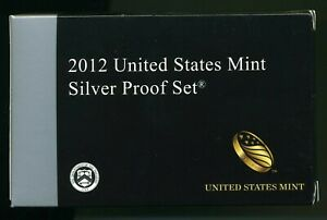 2012-S United States Mint Silver Proof Set w/ CoA CP743