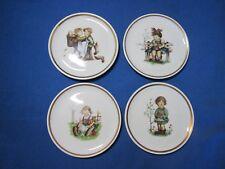 4 Vintage Miniature Hummel plates