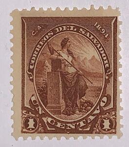 Travelstamps: El Salvador Stamps Scott 91 1894 1c LIBERTY Mint No Gum