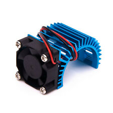 Aluminum Heat sink with 5V Cooling Fan for 1/10 RC Car 540 550 Size Motor Blue