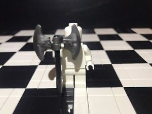 Lego Minifigure Long Battle Axe X1 / Weapon/ White Minifigure Not Included.