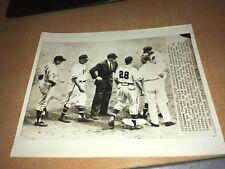 Milwaukee Braves Joe Adcock vs. New York Giants 1955 AP Wire Photo
