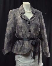 Victor Costa evening Jacket Blazer tie waist baroque sexy top peplum 10 VTG NEW