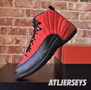 Nike Air Jordan 12 Retro Reverse Flu Game Red Black CT8013-602 Size 8-13