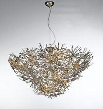 Lampadario contemporaneo foglia oro e foglia argento BELL ispirazione 1350/S13L