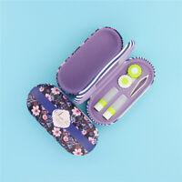 Blue Portable Glasses Case Hard Eyewear Case Protector Box Contact Lens Case